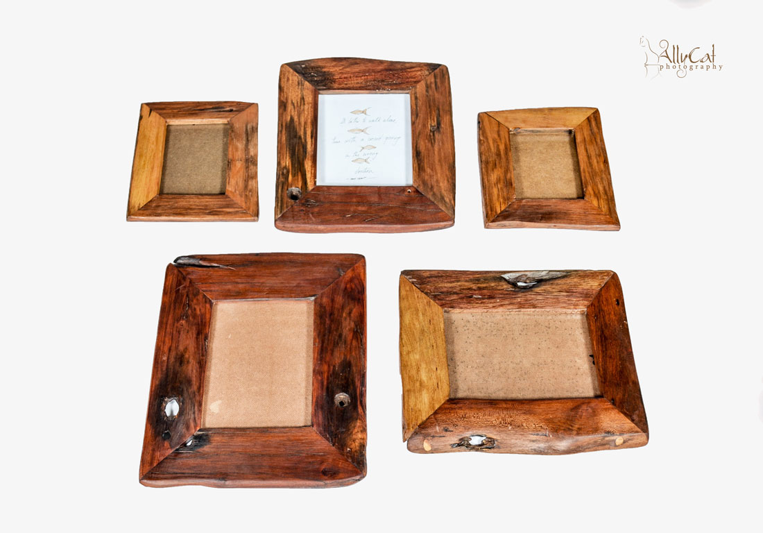 Assorted Wooden Picture Frames