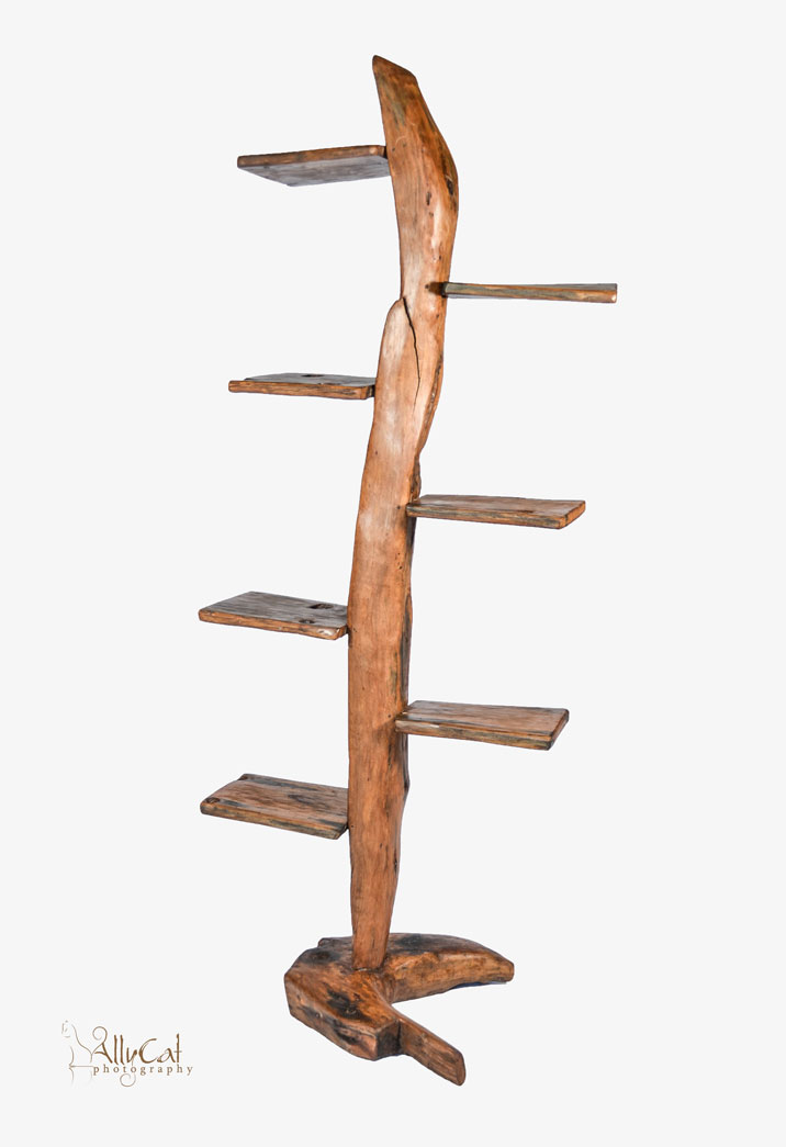 Dhow Wood Rib Shelving Stand