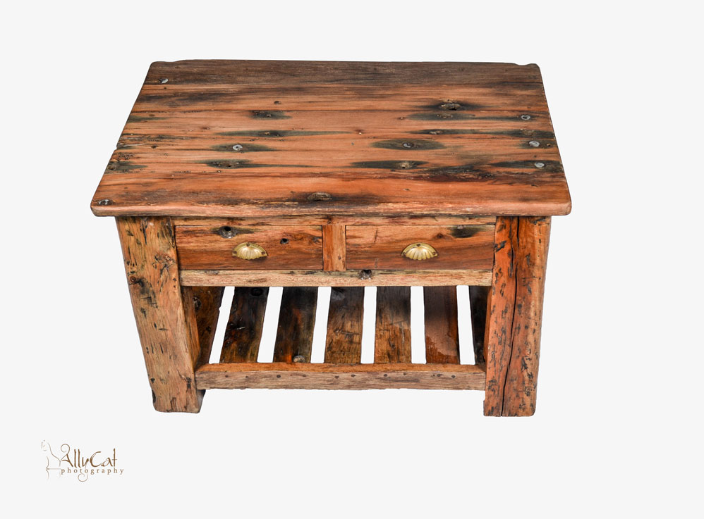 Coffee Table 2x Drawer with Brass Handles